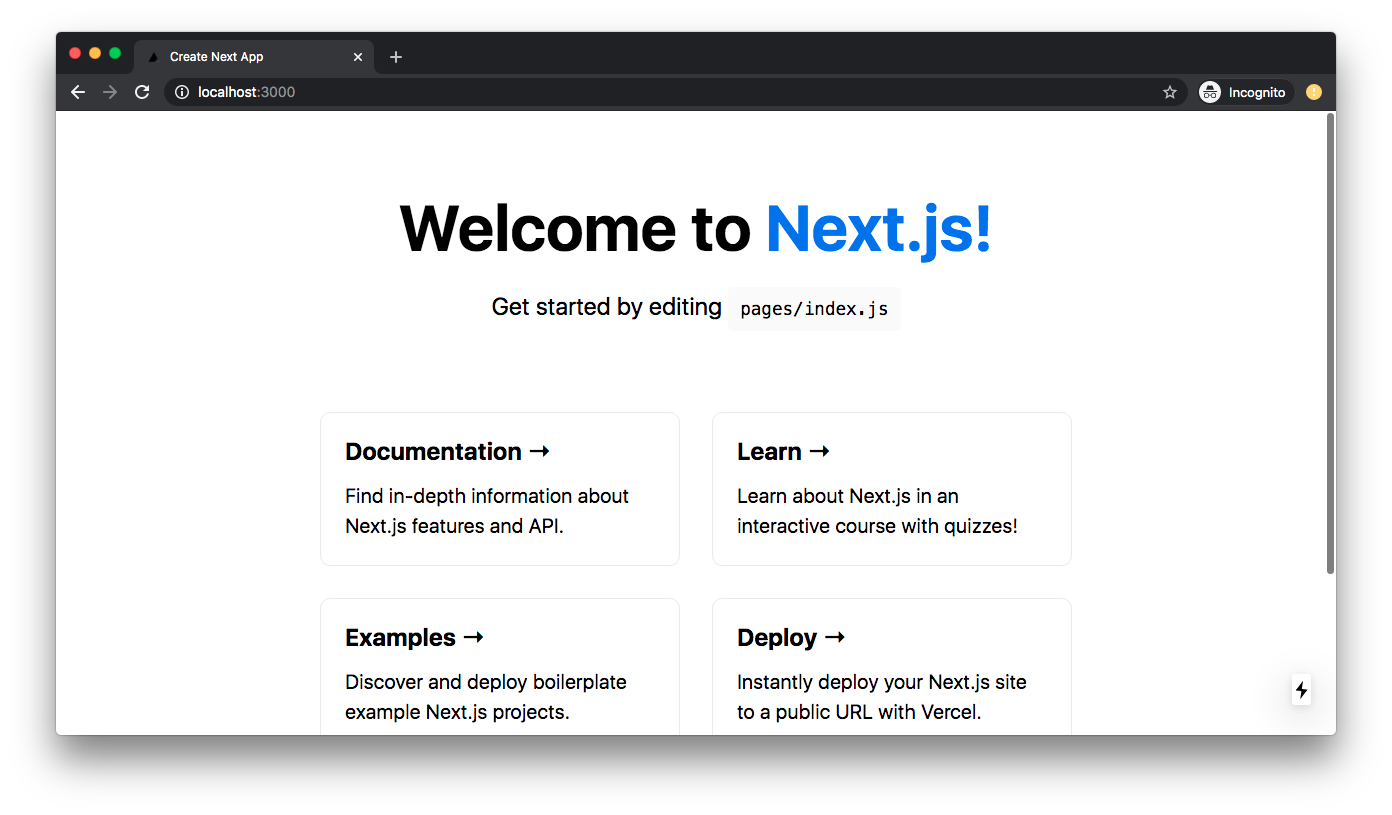 New App (Local) - Next.js