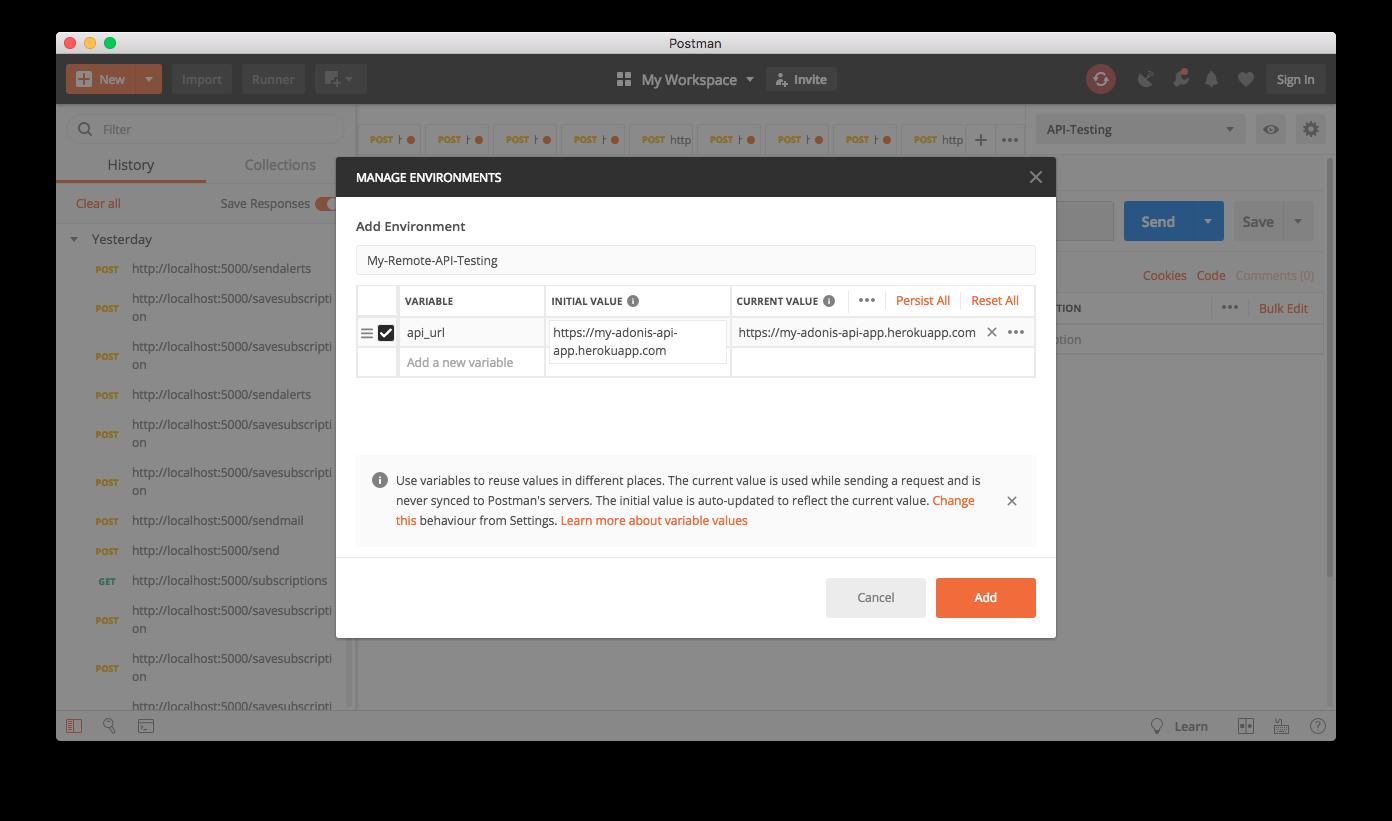 Testing an API with Postman
