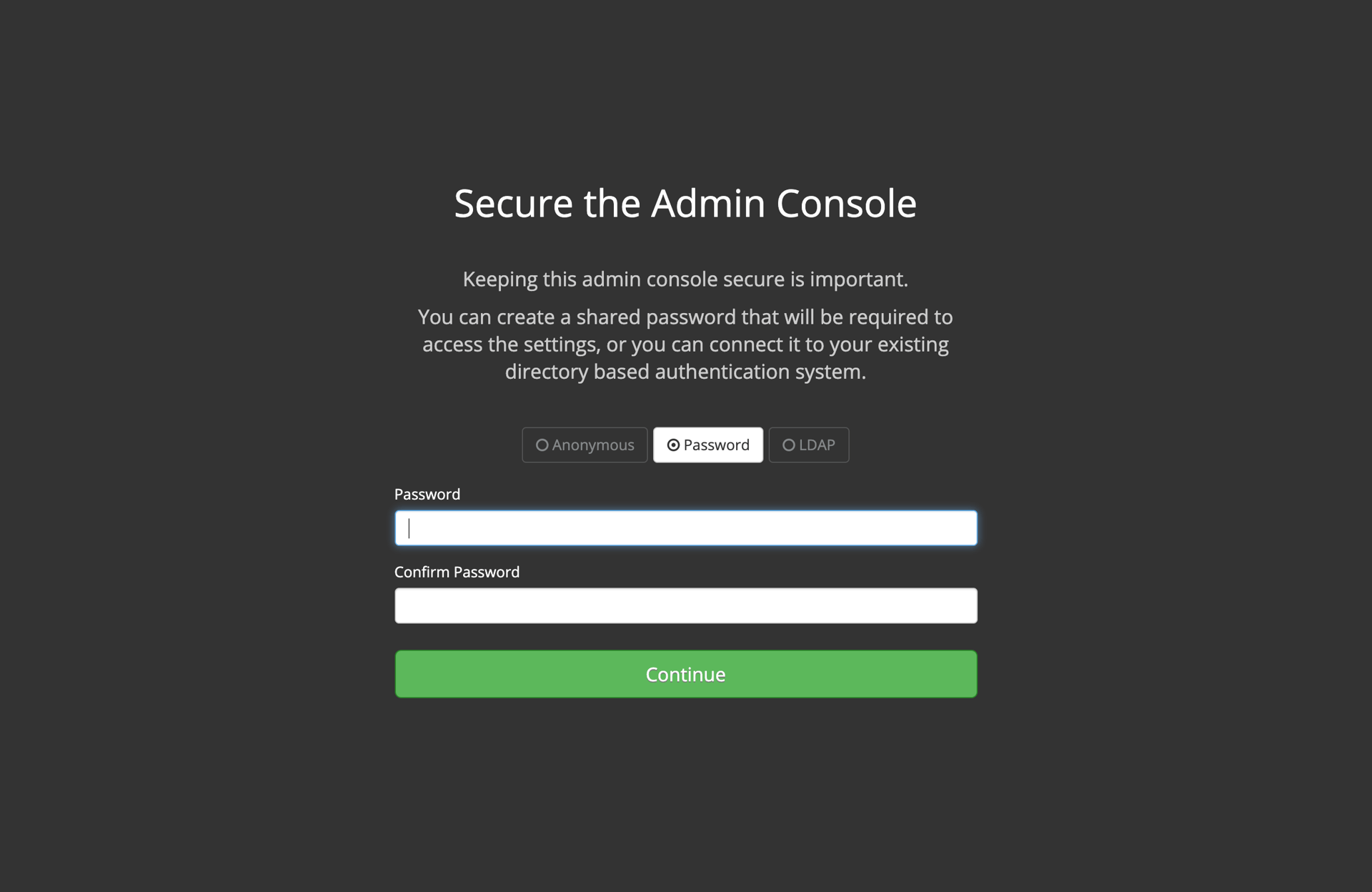 Secure the Management Console
