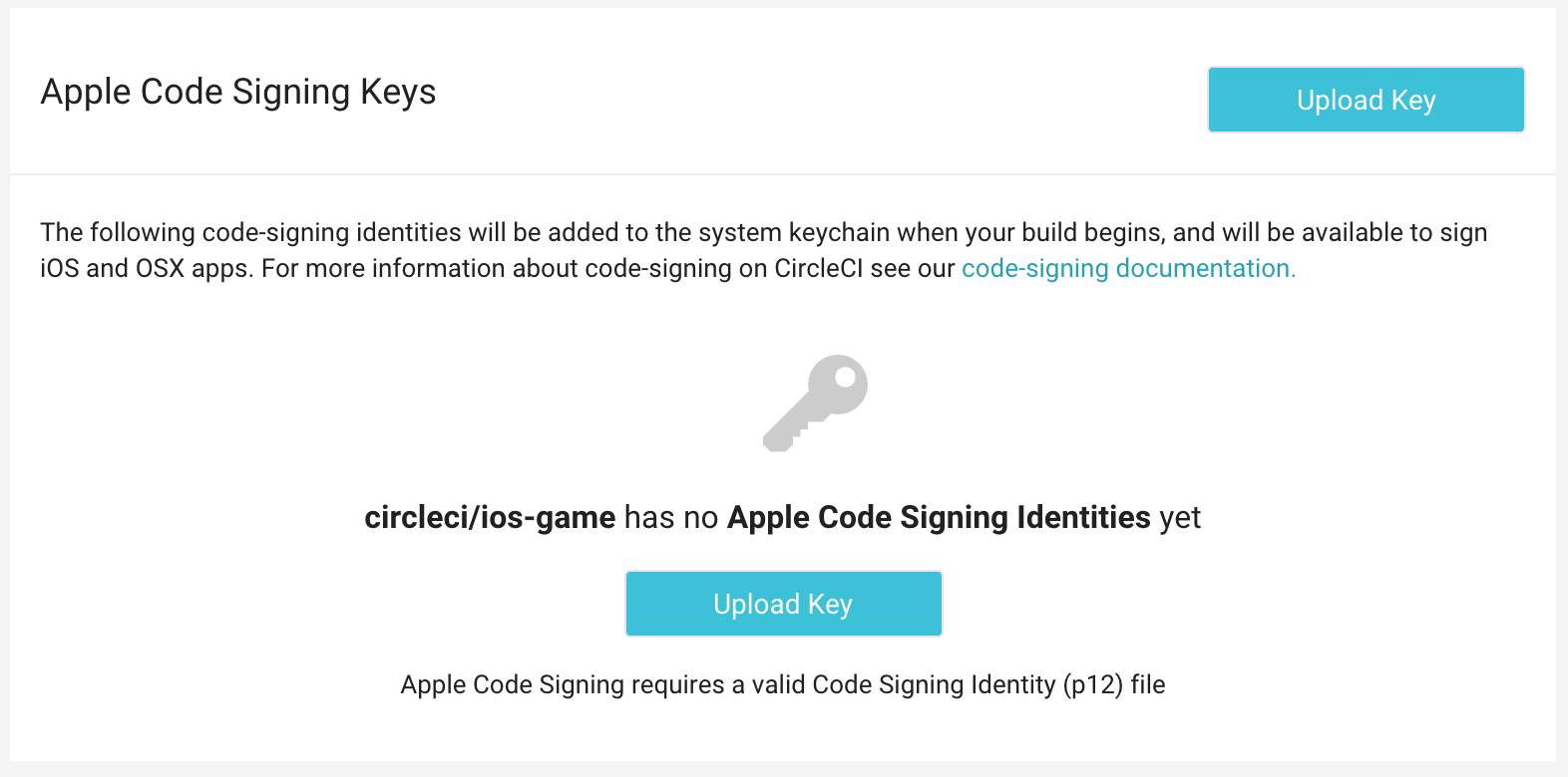 Setting up code signing for ios projects circleci the code signing welcome screen 1betcityfo Image collections