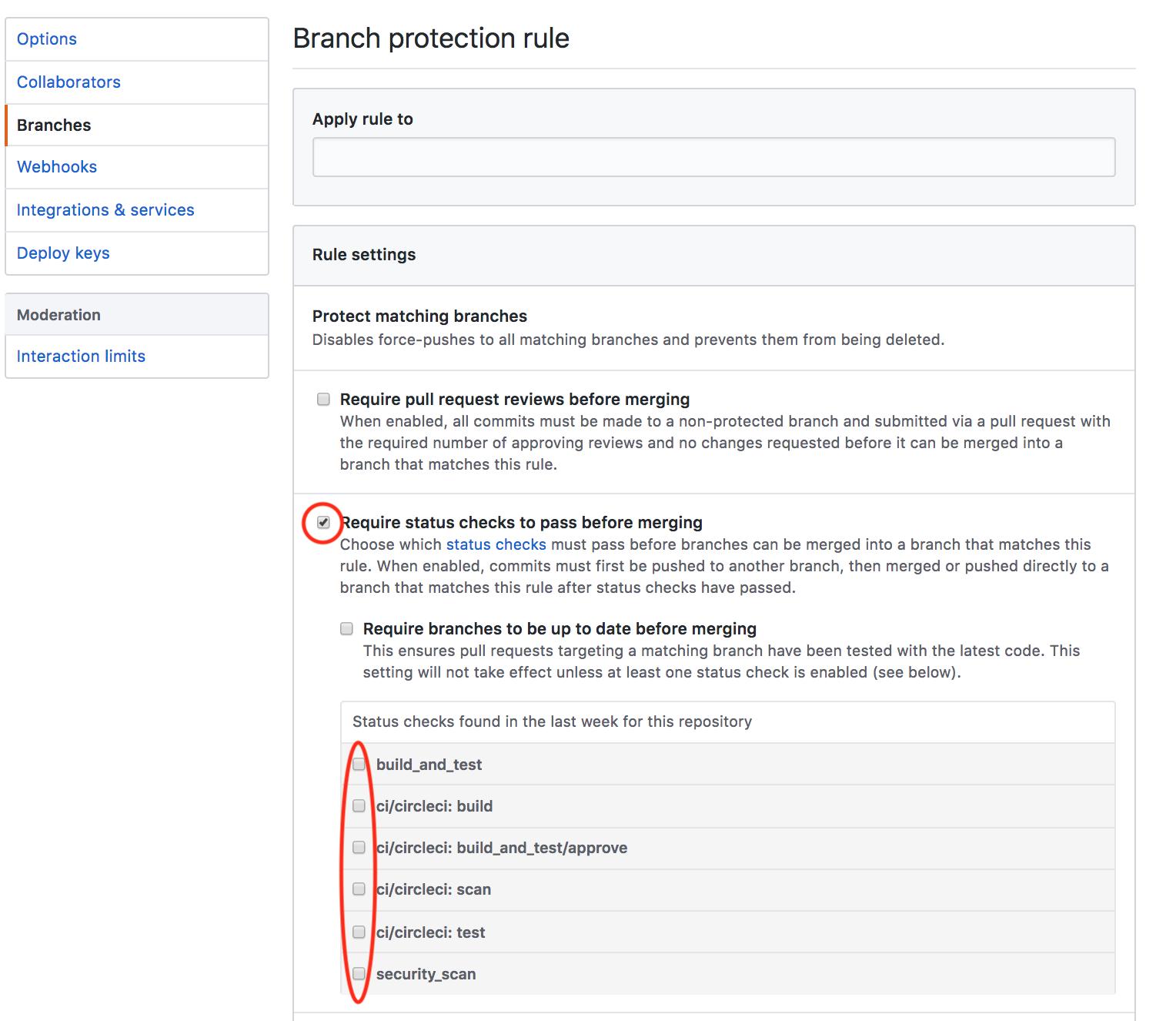Enabling GitHub Checks - CircleCI