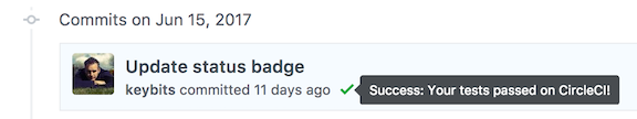 Status Badge After Commit
